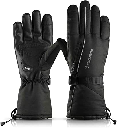 Winter Thick Thermal Motorcycle Touch Screen Bicycle Warm Gloves Mens Womens