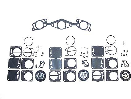 Amazon com: 3 Pack Yamaha Mikuni Carb Carburetor Rebuild Kit