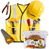 Construction Worker Costume for Kids - Builder Costume - Dress Up Clothes W/ Case by Tigerdoe
