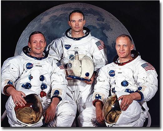 Apollo 11 Crew  8 x 10 Photo Neil Armstrong Buzz Aldrin Space Mission Photograph