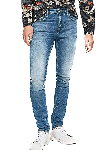 Pepe Jeans Pantalon Vaquero Nickel Azul Hombre: Amazon.es ...
