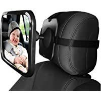 Baby Car Backseat Safety Mirror, Wide Convex Mirror, Adjustable Shatter Proof, Give Clear View of Infant in Rear Facing…