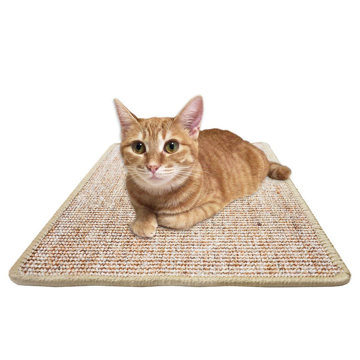FUKUMARU Cat Scratcher Mat,Natural Sisal Rope Cat Scratching Carpet Pad,Floor Scratching Rug by FUKUMARU (Image #1)