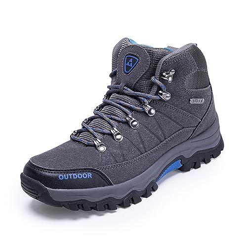 GOMNEAR Botas de montaña para Hombre Zapatos de Trekking con Cordones Zapatillas de Deporte de Escalada para Acampar al Aire Libre: Amazon.es: Zapatos y ...