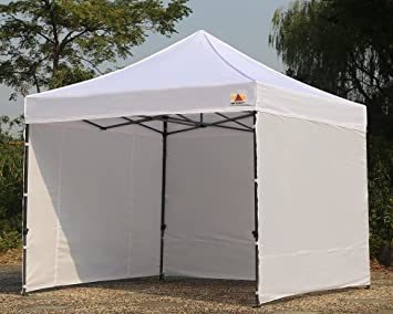 AbcCanopy 8 X 8 Ez Pop up Canopy Tent Commercial Instant Gazebos with 4 Removable Sides : canopy with sides - memphite.com
