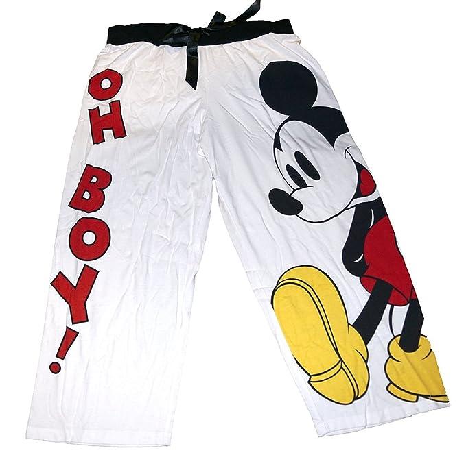 Mickey Mouse Mujer Pijama Capri Pant Rojo Blanco