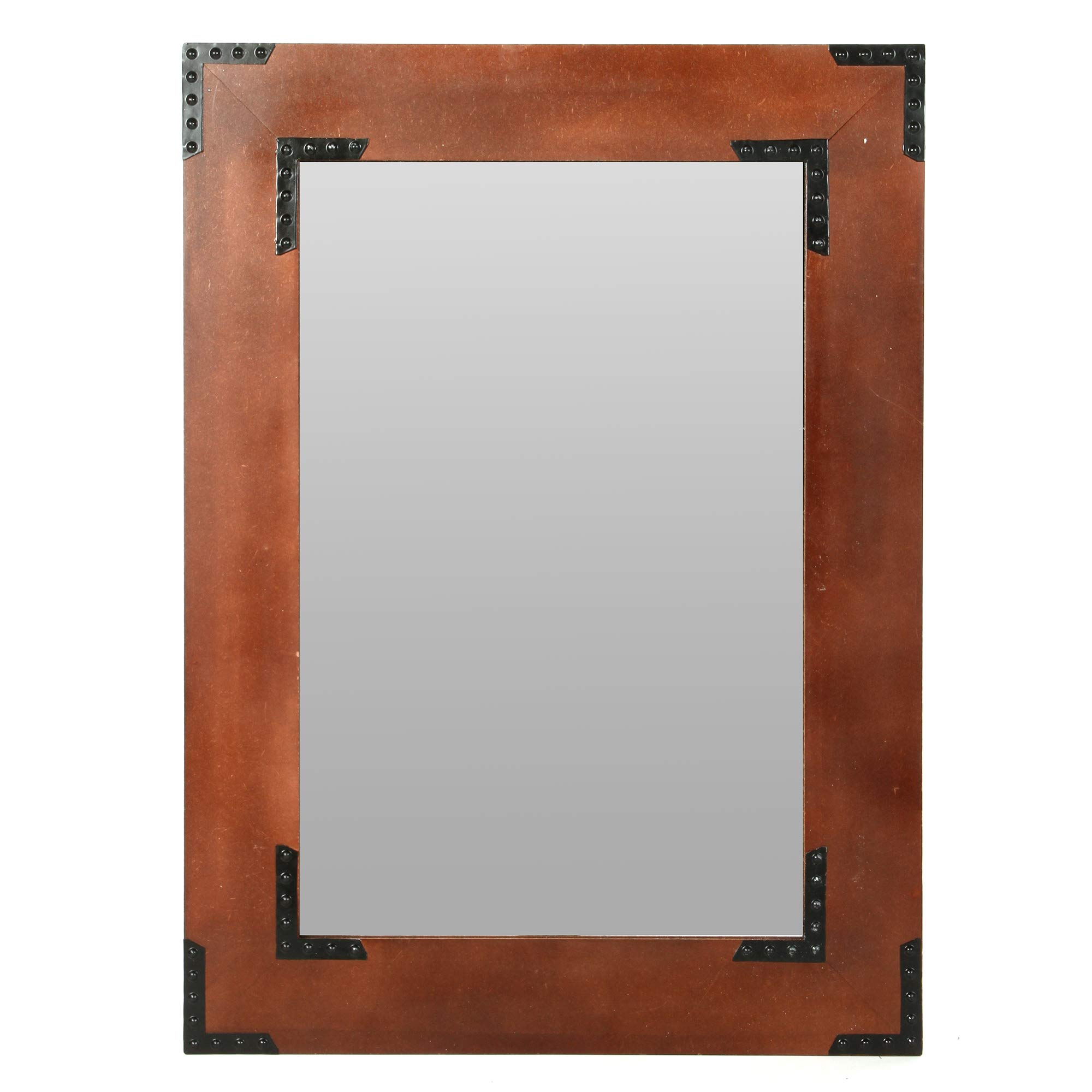 Hosley Wooden Frame Mirror- 26'' High. Ideal for Weddings, Special Occasions, and for Wall Decor, Home, Spa, Aromatherapy, Reiki. P2