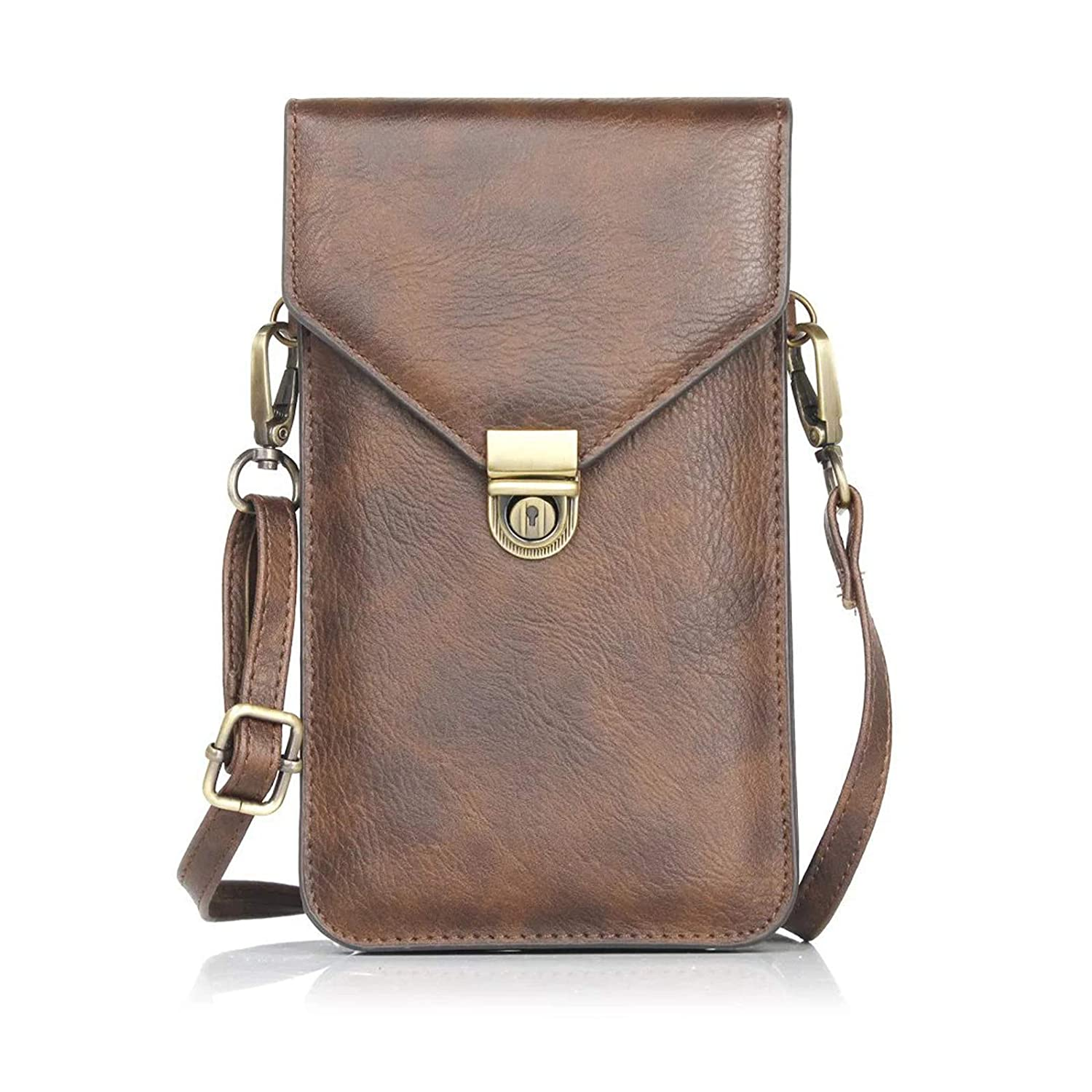 53ec24d34b6d Universal Crossbody Cell Phone Bag for Woman, Dteck Leather Cell Phone  Pouch Purse Wallet with Shoulder Strap for iPhone X / 8 Plus, Samsung Note  8 / ...