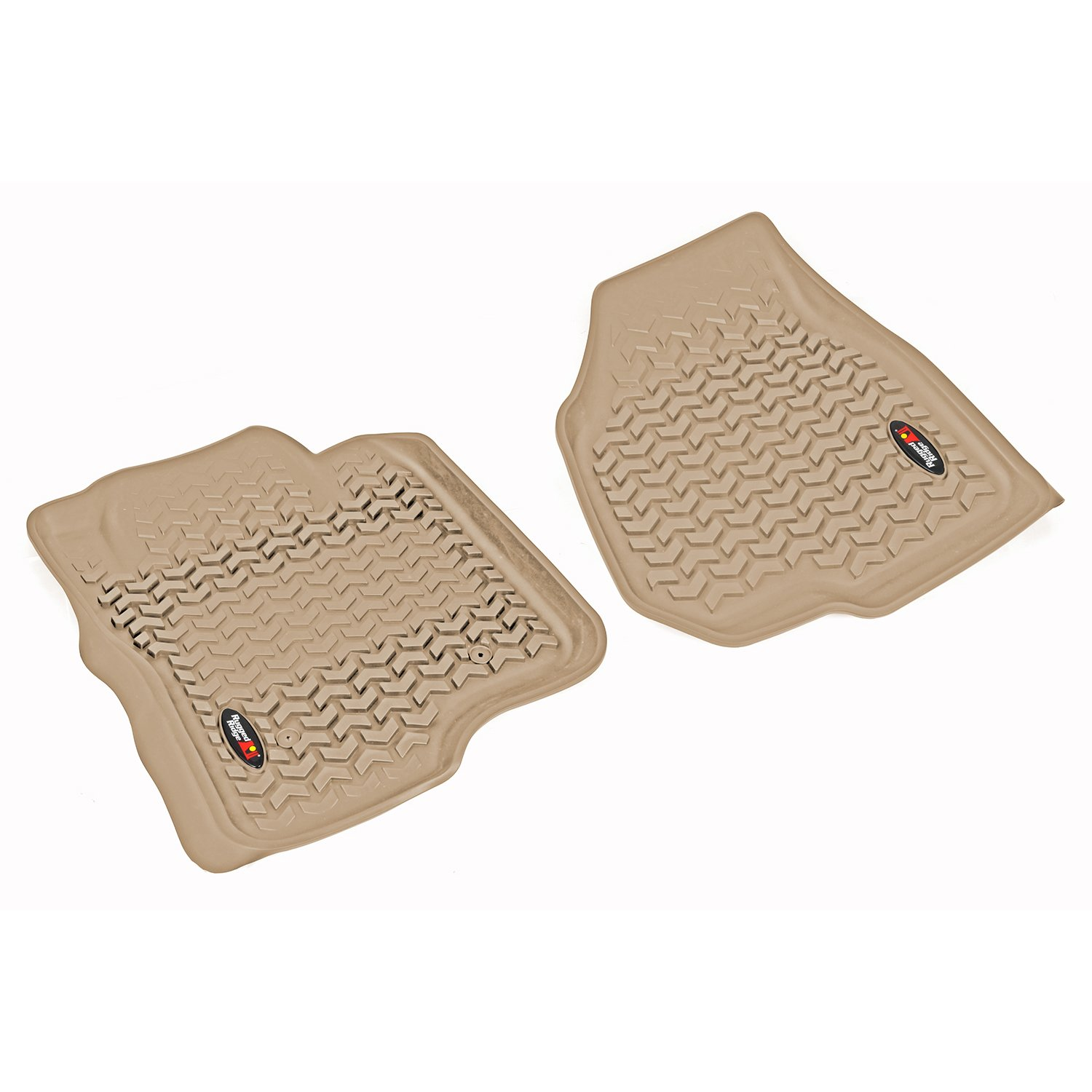 Rugged Ridge All-Terrain 83902.08 Tan Front Row Floor Liner For Select Ford F-250 and F-350 Models