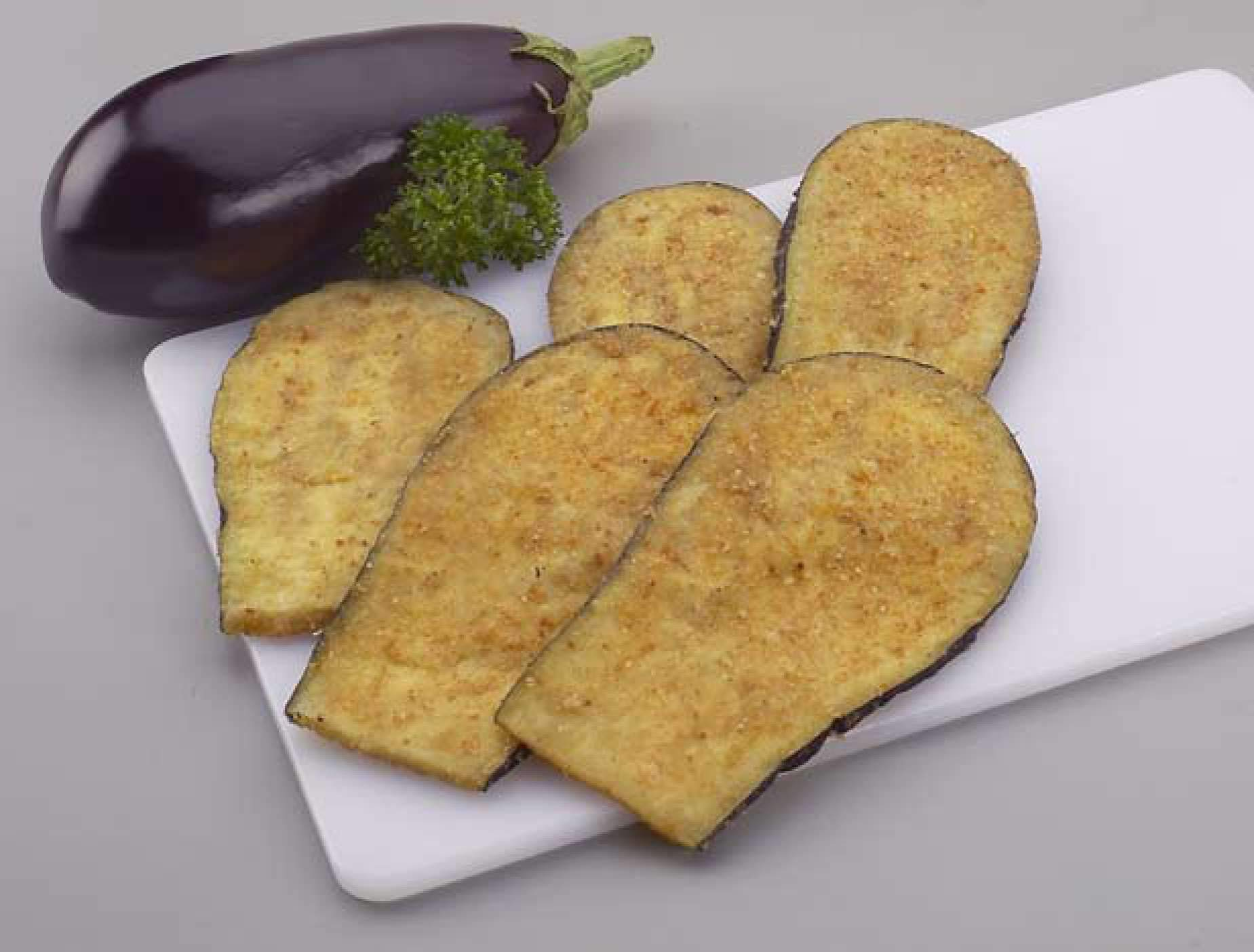 Celentano 1/4'' Quick Frozen Skin-On Naples Cut Eggplant Cutet 5 lb (Pack of 2)