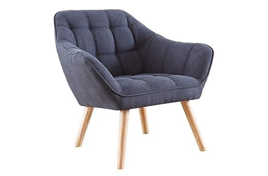 SuenosZzz- Sillon butaca de Relax nordica Golden. Butaca descalzadora, Sillón tapizado en Tela Gris. Relax Confort.