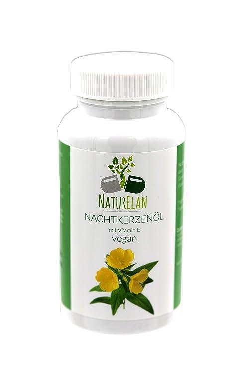 Cápsulas de aceite de onagra - vegetariano - 90 cápsulas que contienen 500 mg de aceite
