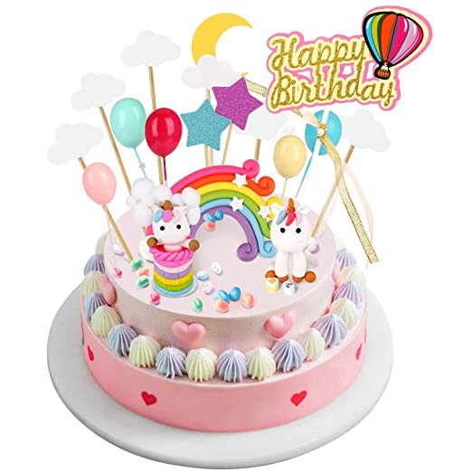 Joyoldelf - Decoración para tarta con diseño de unicornio ...