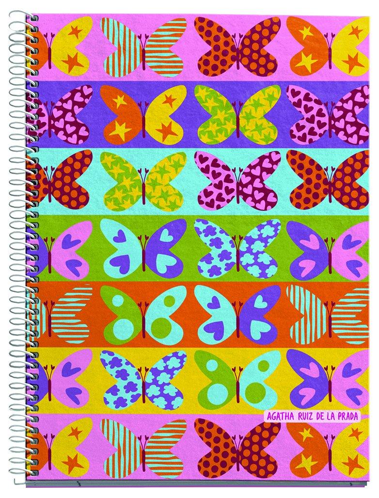 Agatha Ruiz de la Prada 27052 - Agenda escolar, 150 x 213, semana vista polipropileno mariposas