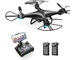 Holy Stone HS110D FPV RC Drone with 1080P HD Camera Live Video 120°Wide-Angle WiFi Quadcopter with Gravity Sensor, Voice Cont