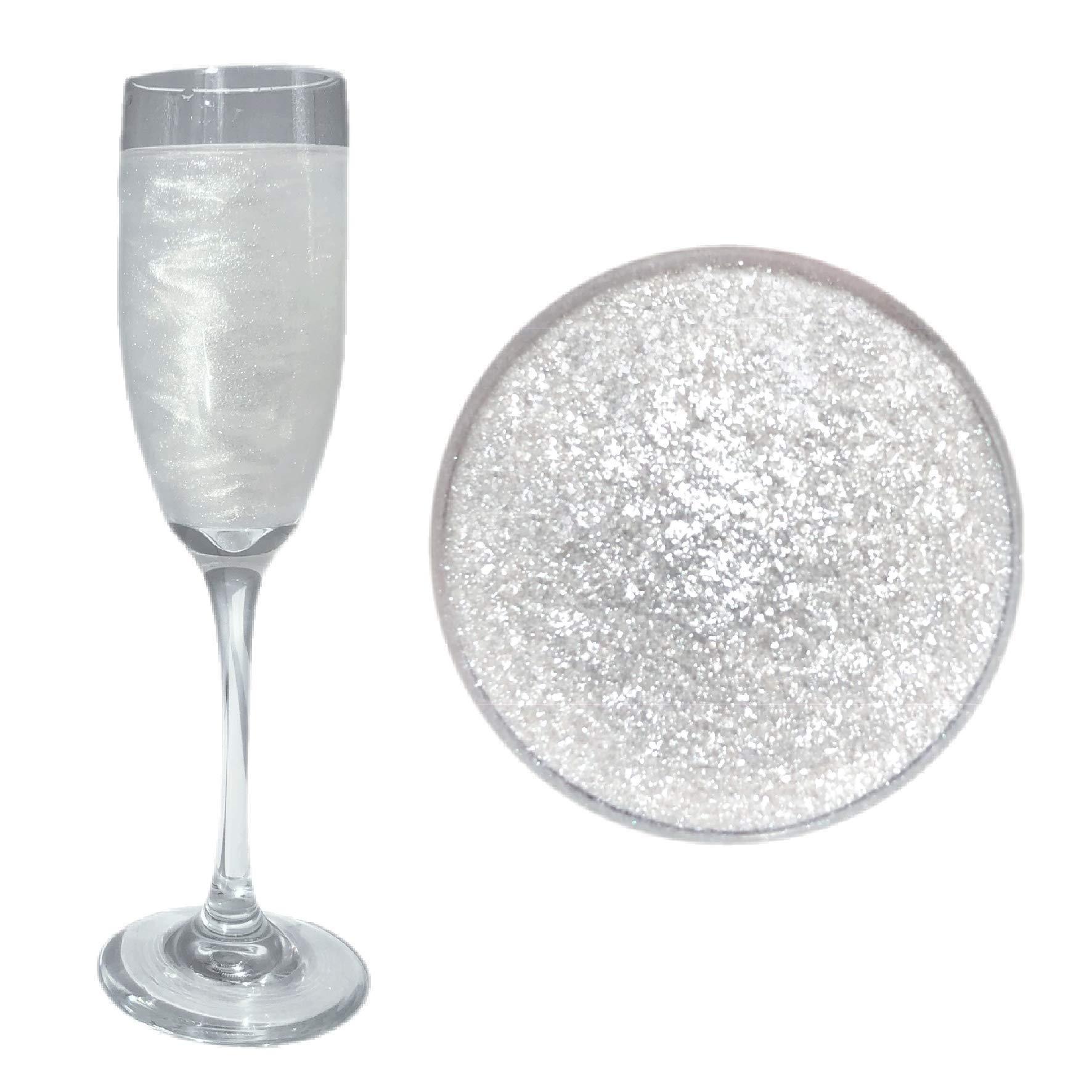 White Beer & Beverage Glitter   1 lb (450 grams)   Edible Food Grade Beer Glitter, Cocktail Glitter & Beverage Glitter-Dust from Bakell by Bakell (Image #1)
