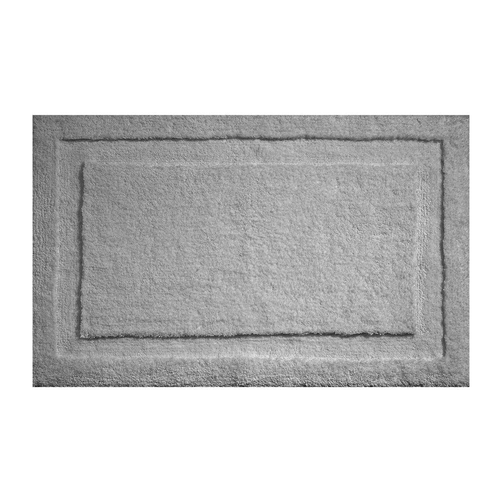 "InterDesign Microfiber Spa Bathroom Accent Rug, 34"" x 21'' Inches, Gray"