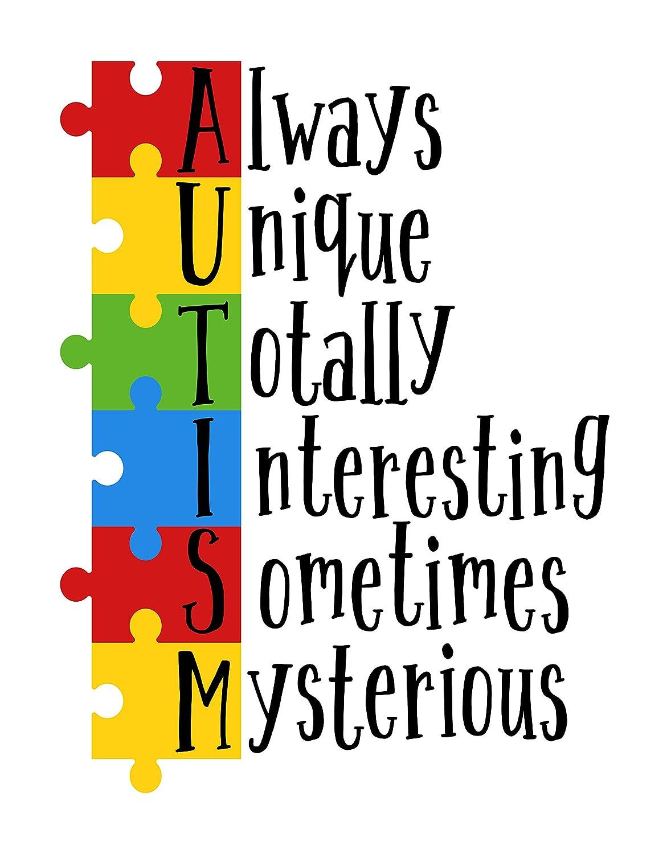8x10, Set of 3 Simply Remarkable Set of 3 Autism Poster Prints Autism Awareness Home Decor Autistic Spectrum