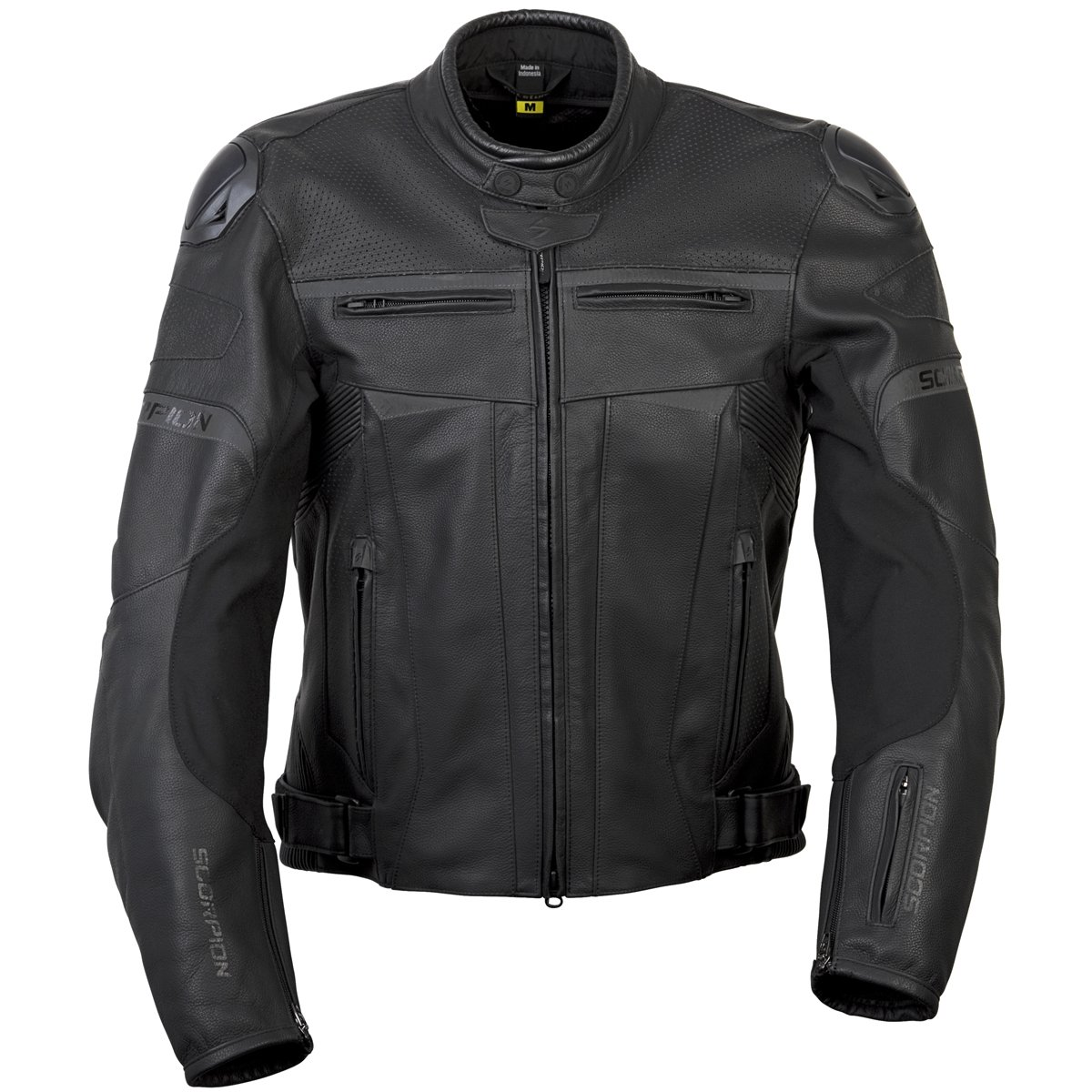 ScorpionExo Ravin Men's Leather Sport Motorcycle Jacket (Black, Large)
