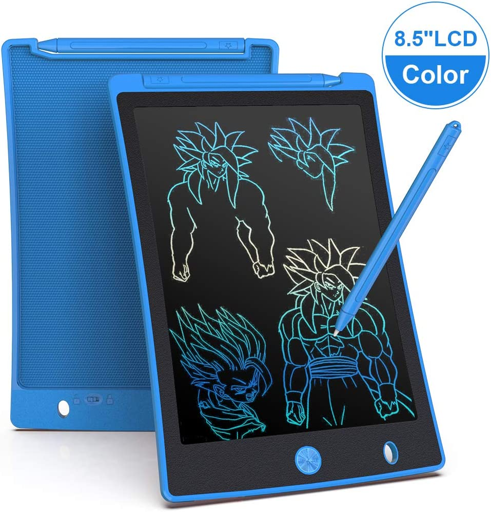 LCD Writing Tablet 8.5 Inch Mini Electronic Doodle Board Kids Drawing Board Digital Handwriting Pad LCD Writing Tablet Drawing Board Color : Blue, Size : 8.5 inches
