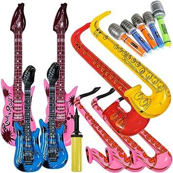 Lictin 14 pcs Inflables de Juguete Inflable Guitarra micrófono ...