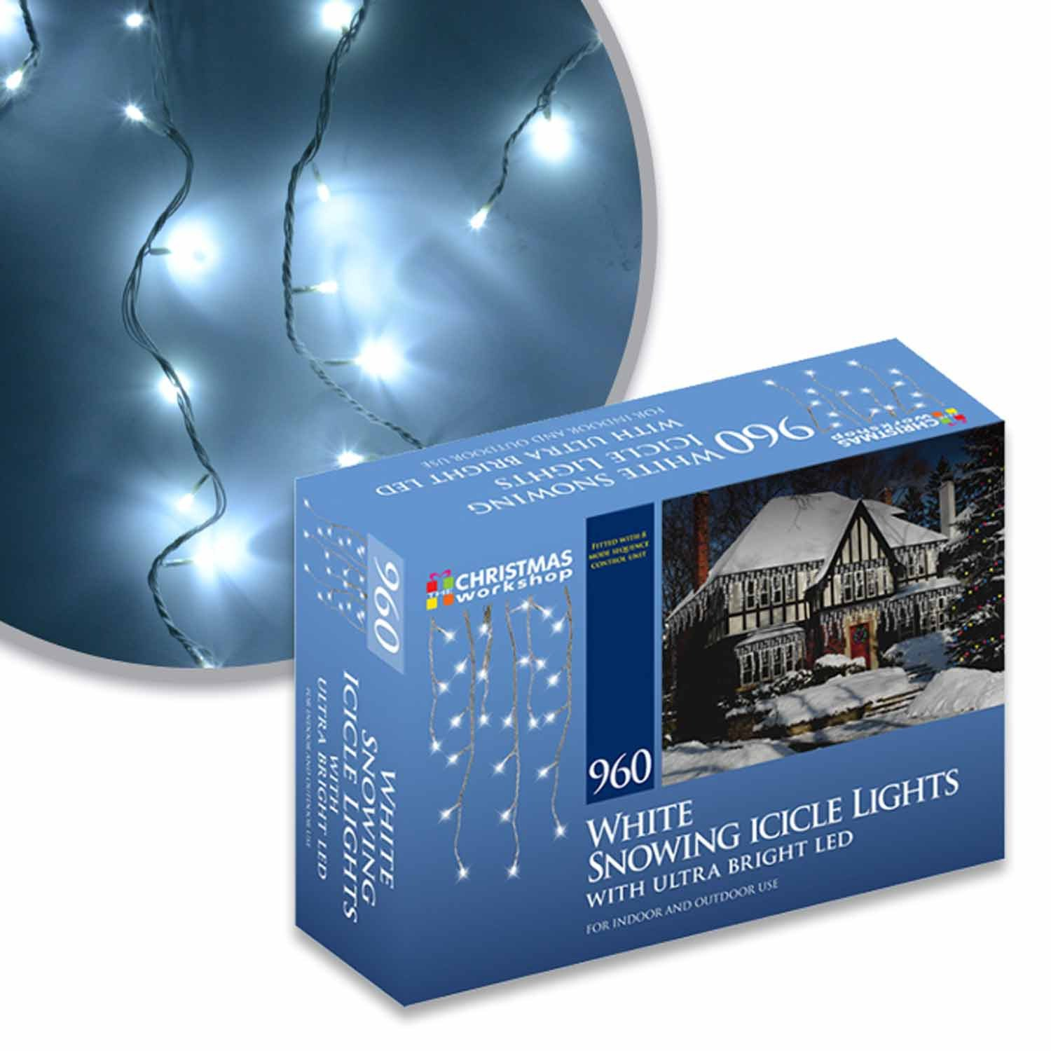 Benross Marketing Ltd White Snowing Icicle Lights with Ultra Bright ...