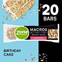 ZonePerfect Macros Protein Bars, Birthday Cake, 20 Count