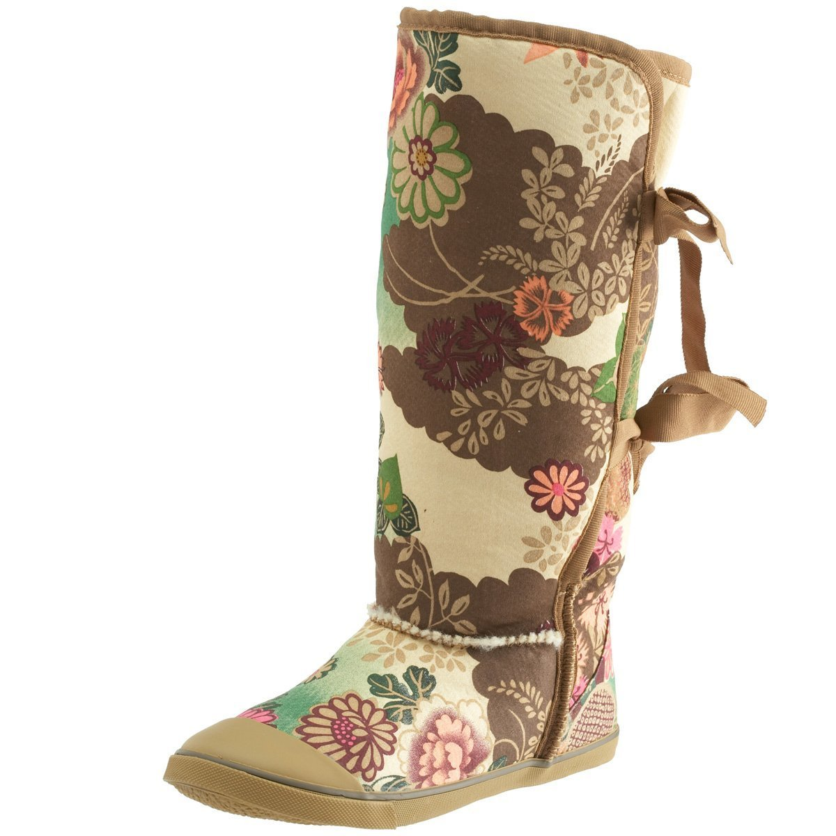 56b34957f2809 Sugar shoes morigami boot asian floral tan uk shoes bags jpg 1200x1200 Sugar  morigami