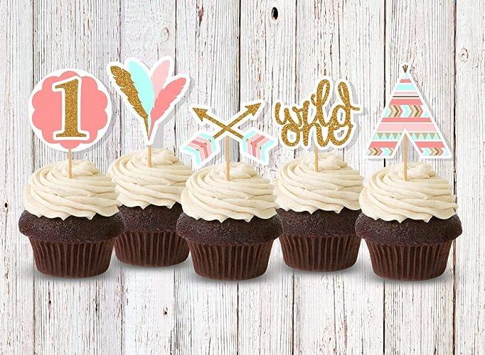 Amazon Com Wild One Cupcake Decorations Cupcake Picks For