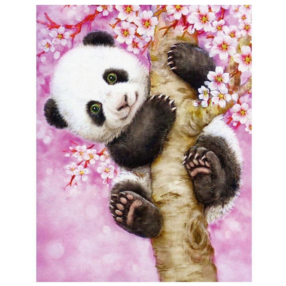 TOOGOO(R) HOT DIY 5D Diamond Embroidery Painting Cross Stitch Kit Home Decor(Panda climbing trees)