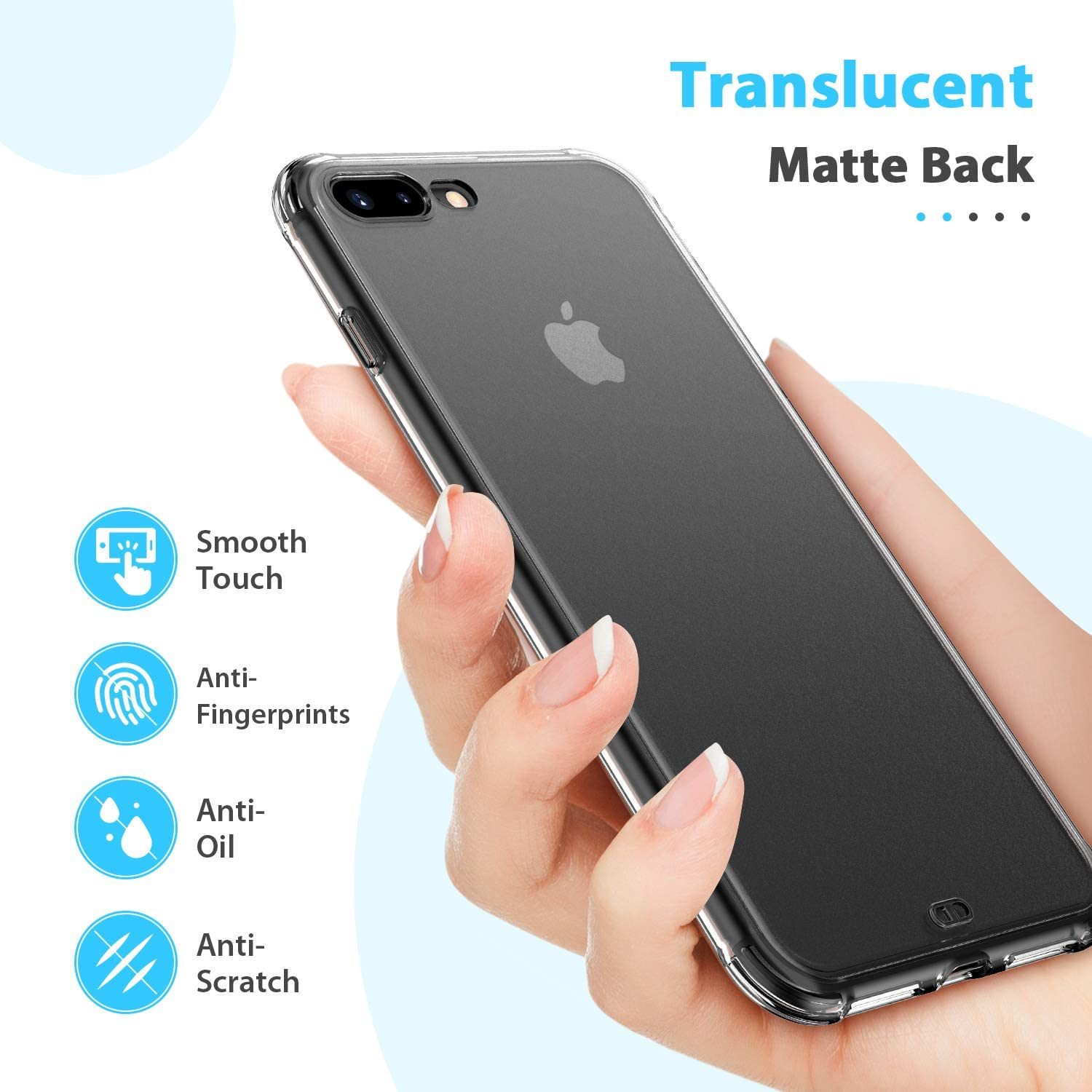 Shockproof and Anti-Drop Protection Case Designed for iPhone 11 ORIbox Case for iPhone 11 Translucent Matte case with Soft Black Edges