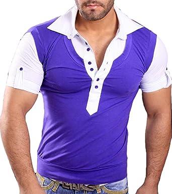 Tazzio Hombre Manga Corta Verano Contraste Polo Camiseta de Camisa Polo de T 933: Amazon.es: Ropa y accesorios