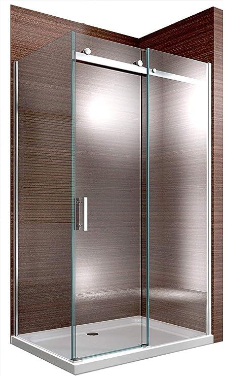 Cabina de ducha Nano 8 mm Cristal ex806 Puerta corrediza – 90 x 140 x 195 cm: Amazon.es: Hogar