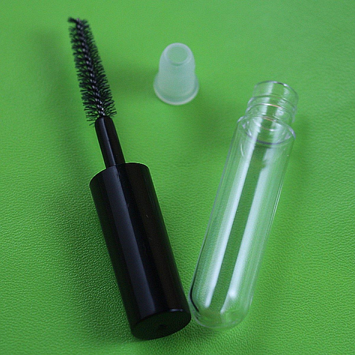 50 Pieces 4ml Mini Empty eyelashes tube mascara tube vials bottle,DIY Container Mascara Brush Eyelash Wand Bottle Vial