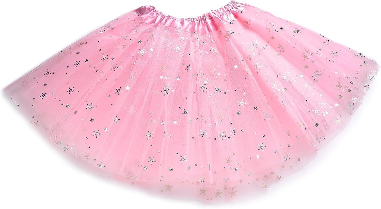 kilofly 6pc Girls Ballet Tutu Kids Birthday Princess Party Favor Dress Skirt Set