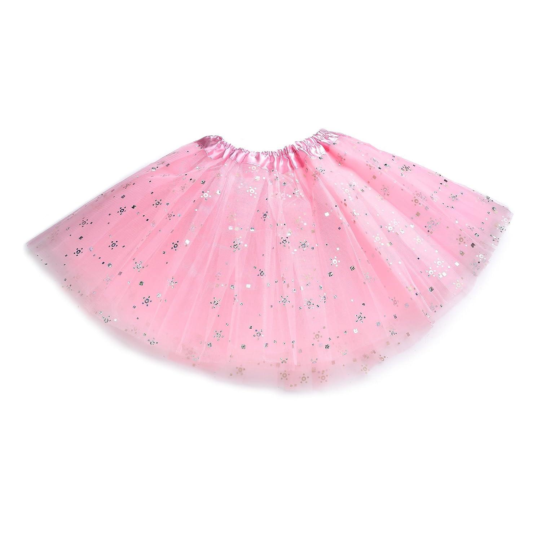 Anleolife 12'' Princess Fairy Tutu Dress Ballerina Basic Girls Dance Dress-Up Tutu