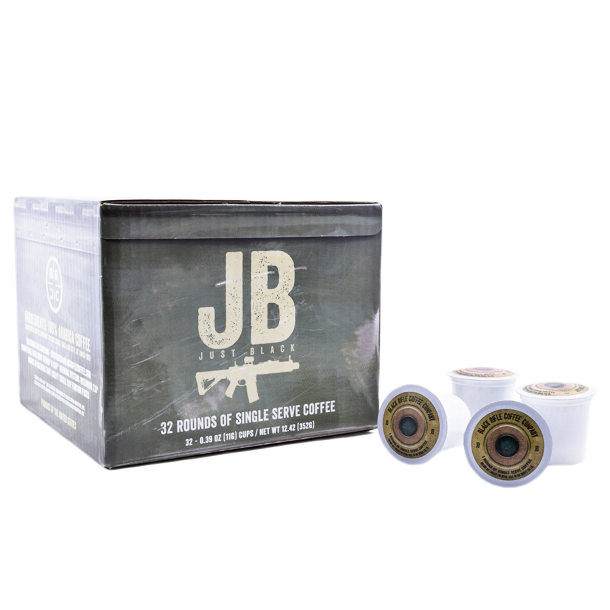"Black Rifle Coffee Company JB ""Just Black"" Coffee Rounds for Single Serve Brewing Machines (32 Ct)"
