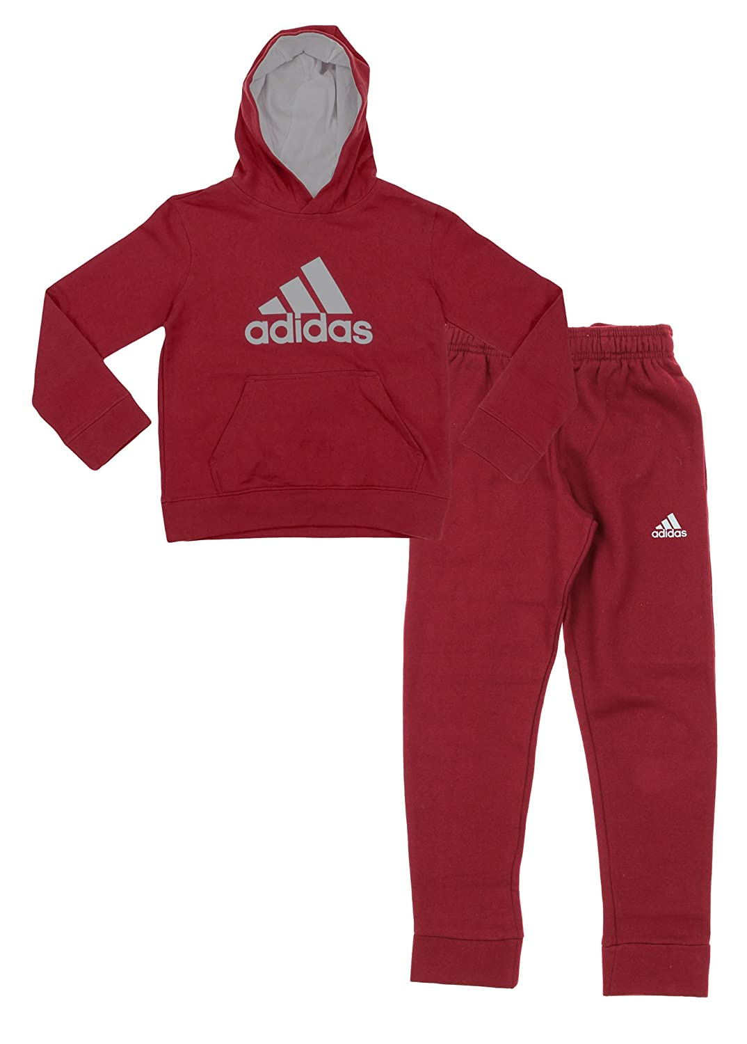 Adidas Youth Big Boys Game Ready Hoodie And Pants Set, Color Options Black/ Yellow 00_SVLGMQLD_AD
