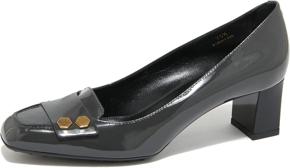 0445O Decollete TOD'S Gomma Bottoni Grey Scarpe Donna Shoes Women