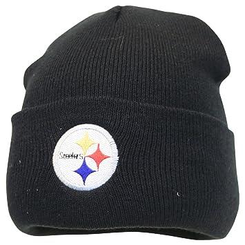 ebdba5caa6a79 Amazon.com   Pittsburgh Steelers Black Cuffed Knit Hat   Sports Fan ...