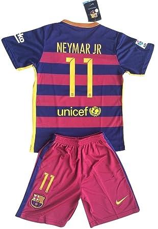 huge discount 13192 542b4 Neymar Jr #11 FC Barcelona 2015-16 Youths Home Kit Shirt & Shorts