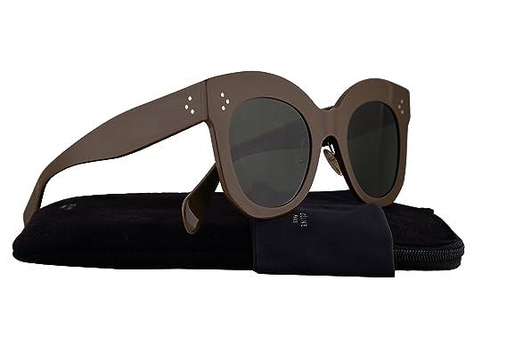 Amazon.com: Celine cl41443/S anteojos de sol Caqui y café W ...