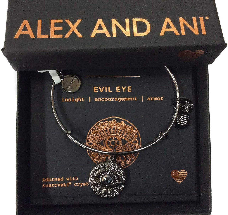 Alex and ANI Evil Eye Bangle Bracelet Expandable