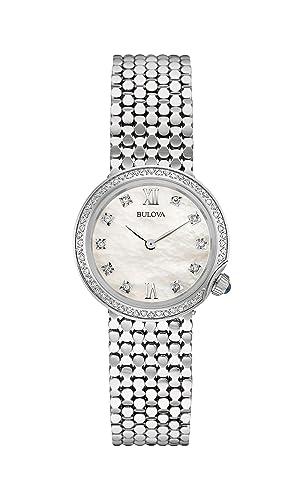 Montre Bulova Designer Diamant En Bracelet Pour Femmes kn0PwO8
