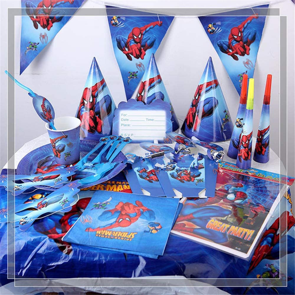 Spiderman Party Bundles for 10 Guests