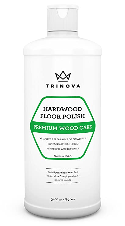 Trinova Hardwood Floor Polish And Restorer High Gloss Wax Protective Coating Best Resurfacing Applicator With Mop Or Machine To Restore Natural