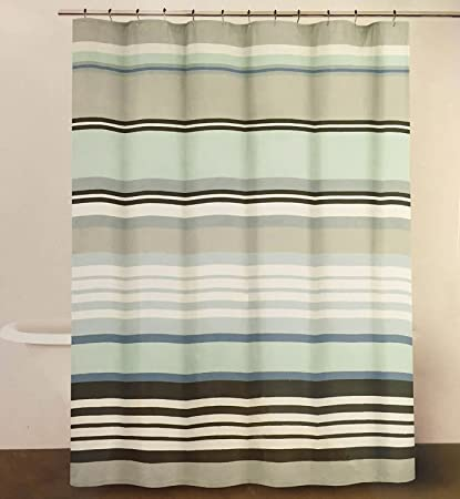DKNY Urban Lines Periwinkle Luxury Fabric Shower Curtain