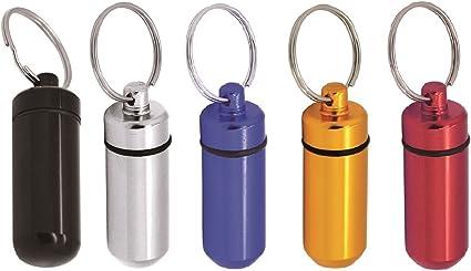Porte-cl/és pilulier//cache-billet Grenhaven 5x argent /étanche//aluminium