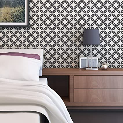 Amazon com: J BOUTIQUE STENCILS Modern Geometric Wall