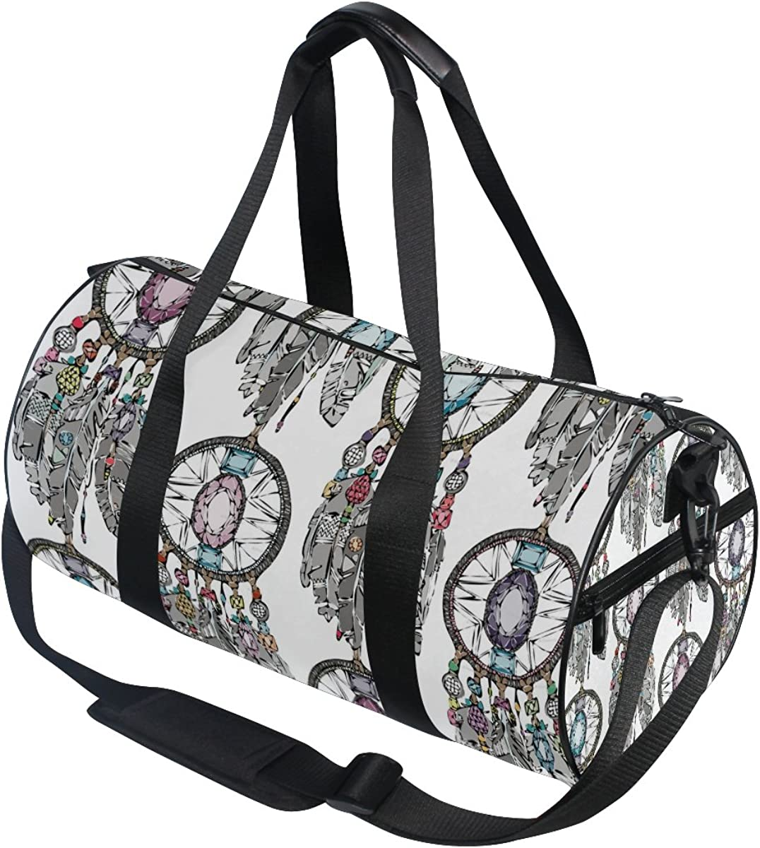 Evolutions Dream Catcher Feather Duffels Bag Sports Gym Bags for Men /& Women